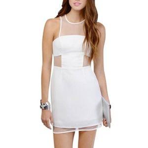 Tobi Gridlocked Ivory Mesh Bodycon Dress Size M